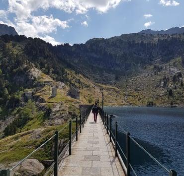 Presa del lago Restanca