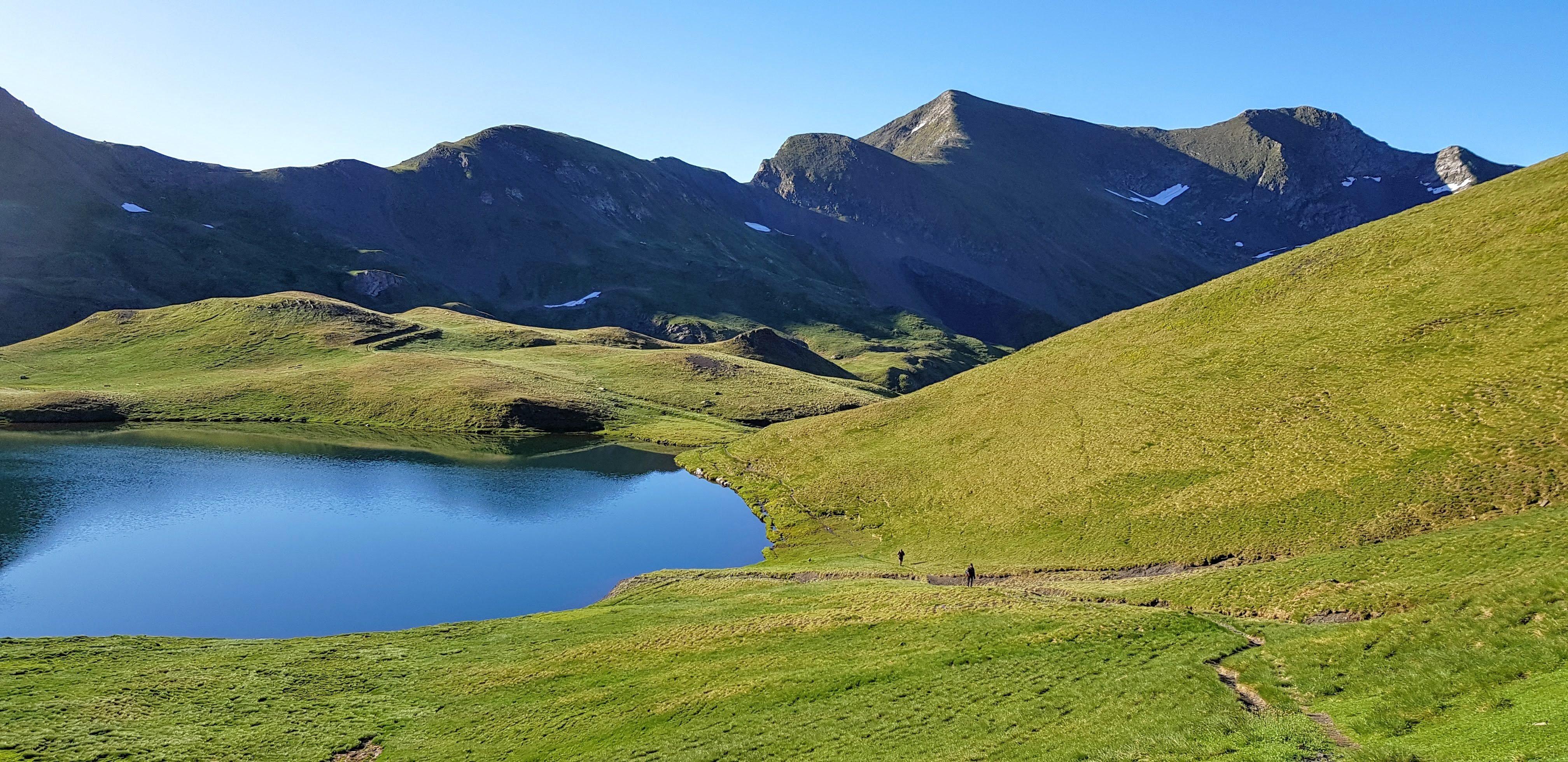 Lac de Montoliu camino hacia el Mauberme