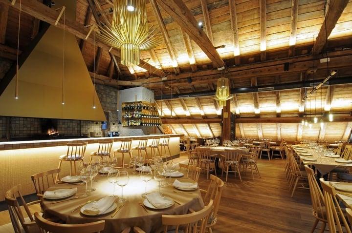 comedor-del-restaurante la borda lobato baqueira beret